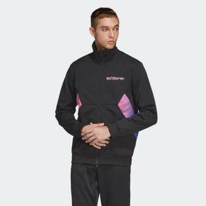 Adidas Mens Degrade Track Black Ombre Pink Jacket